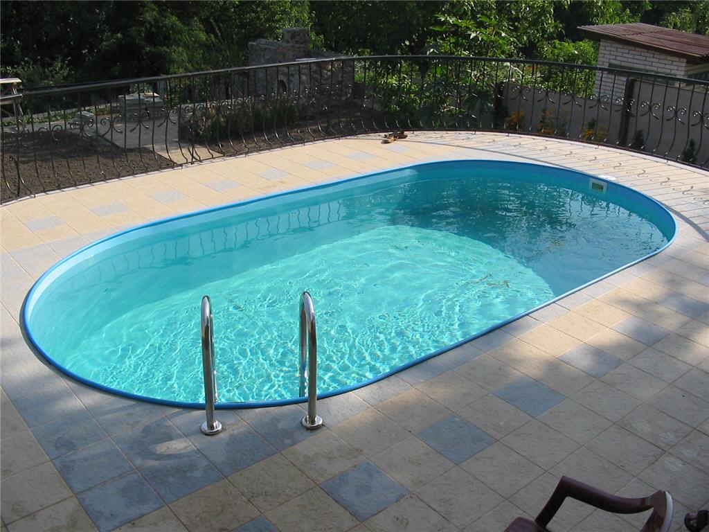 Овальный бассейн полипропиленовый
