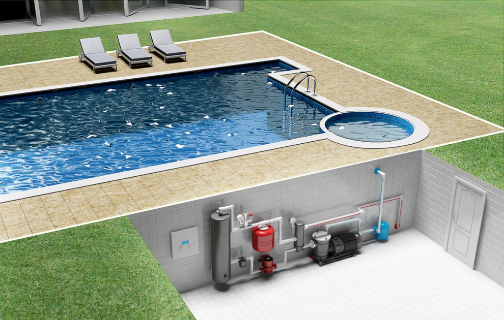 Схема проекта бассейна