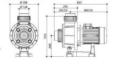 Насос Gemas Monophase FLJ350M