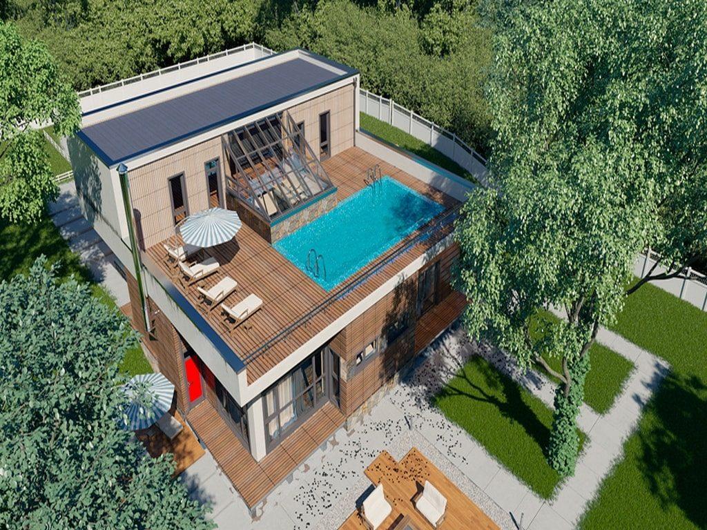 Великолепный вариант на крыше дома