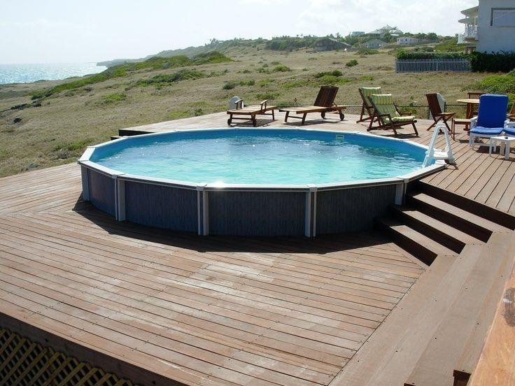 Каркасный бассейн на подиуме