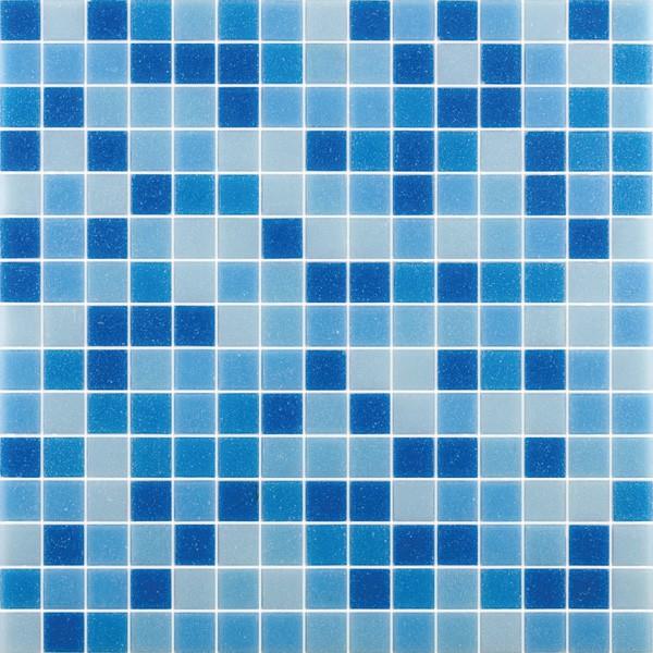 Трехцветная мозаичная плитка, уложенная без узора