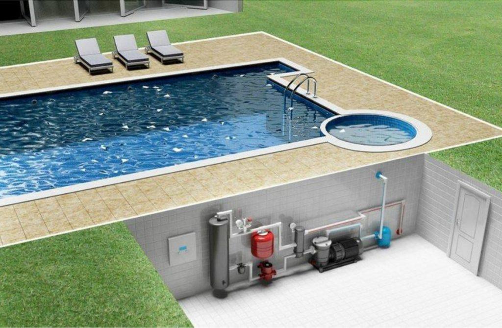 Видимая часть с системой управления тепловым насосом может быть установлена в специальной нише вне помещения