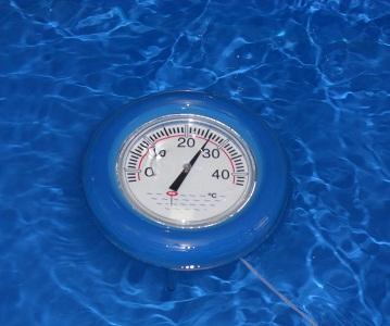 Плавающий круглый термометр для бассейна